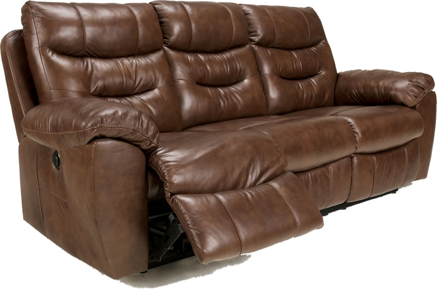 Brown Wall Hugger Reclining Leather Sofa Ashley Furniture