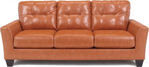 Contemporary Leather Sofa Orange