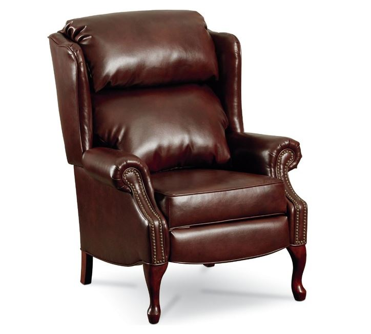 Leather wingback recliner roselawnlutheran for Wing back recliner chair